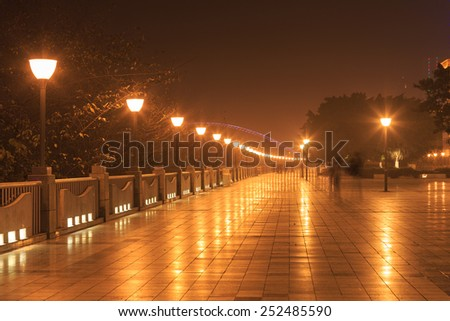 street lamp night - stock photo