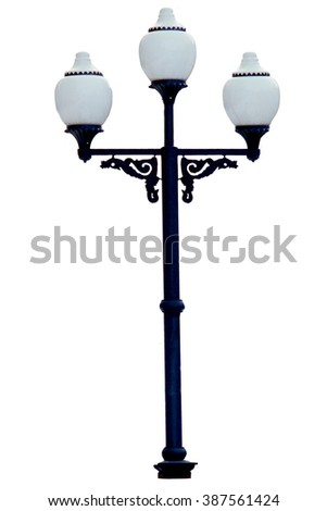 street lamp on a white background isolated