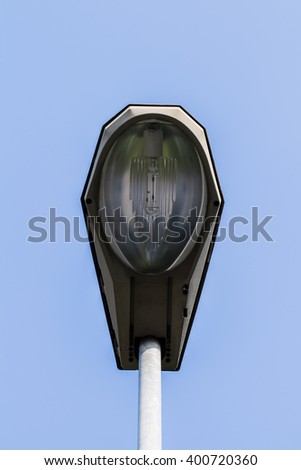 Street lamp on the background of the sky - stock photo