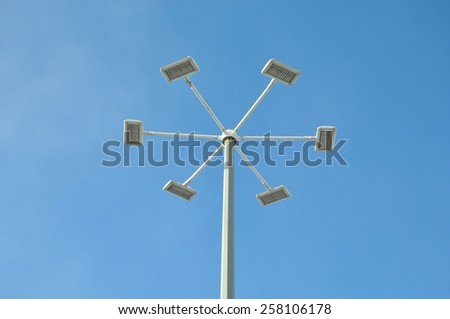 Street lamp post - stock photo