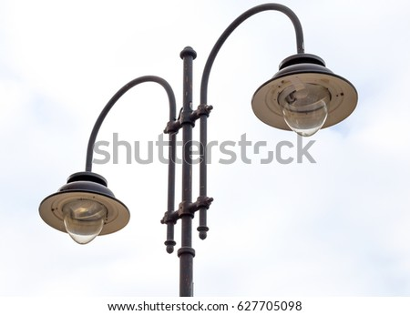 Street lamps in the city, lamppost, street light