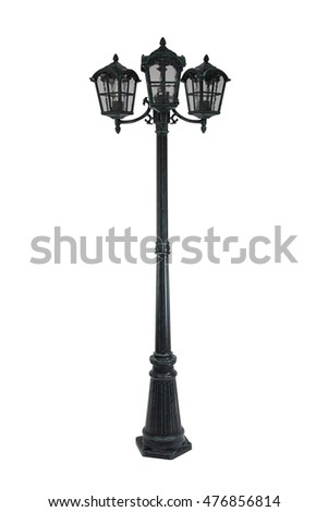Street lamps isolated on white background.