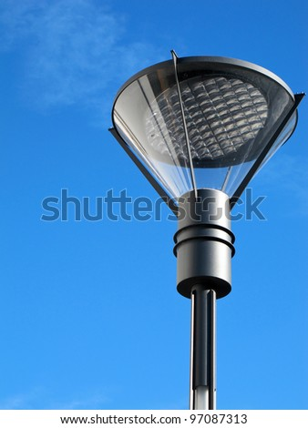 street lantern with a modern design - stock photo
