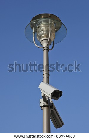 street light and security camera