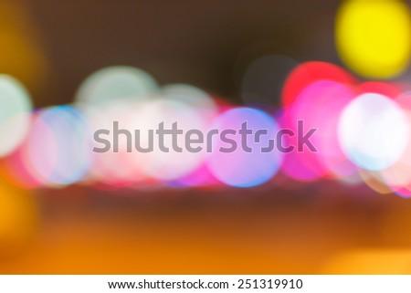 Street light Bokeh - stock photo