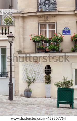 Street light in Paris, France - stock photo