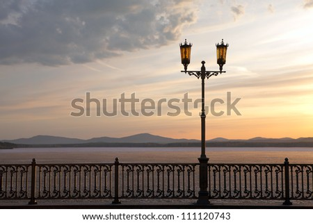 Street light on the promenade