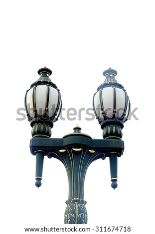 Street light with halogen lamp - stock photo