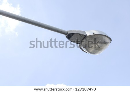 street lighting on day on sky background - stock photo