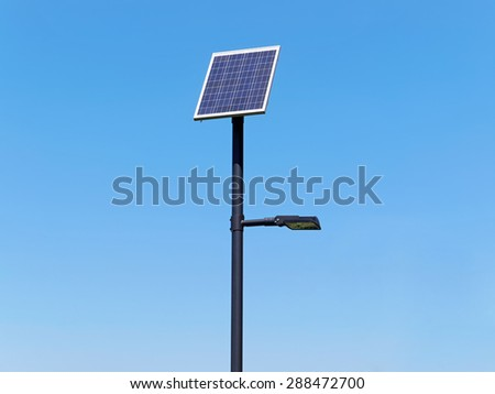 Street lighting pole with photovoltaic panel  sc 1 st  Shutterstock & Solar Street Light Stock Images Royalty-Free Images u0026 Vectors ... azcodes.com