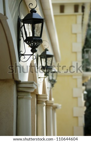 Street Lights in New Orleans - stock photo