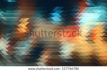 Street Lights.Pixelart. - stock photo