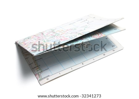 Street Map on White Background - stock photo