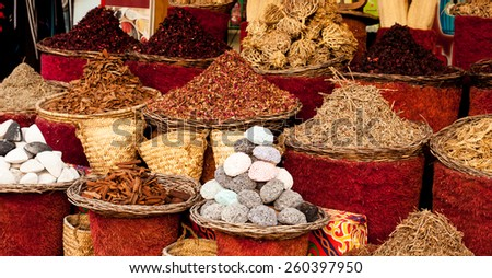 Street market in Egypt. Old Market. Sharm el Sheikh - stock photo