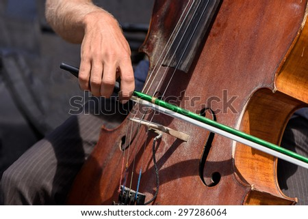 Street Musician Playing Cello