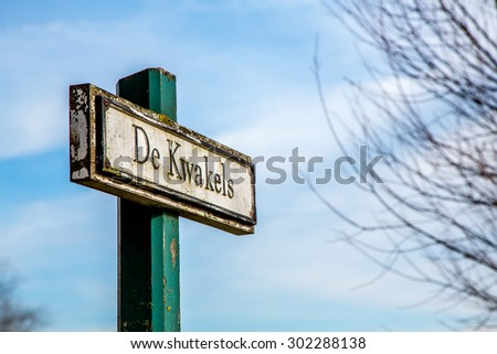 Street Name's sign
