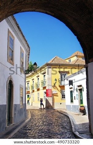 Street of  Faro in Algarve, Portugal