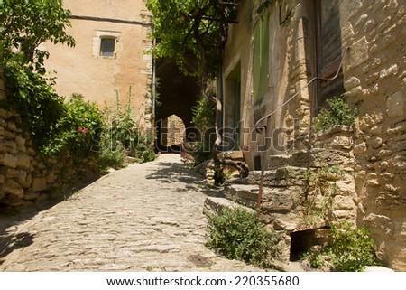 Street of Gordes, Provence, France - stock photo