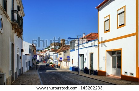 Street of Mertola village, Portugal