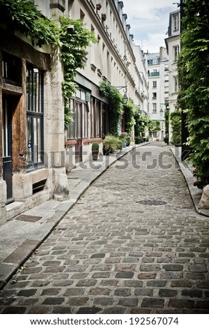 street of Paris  - stock photo