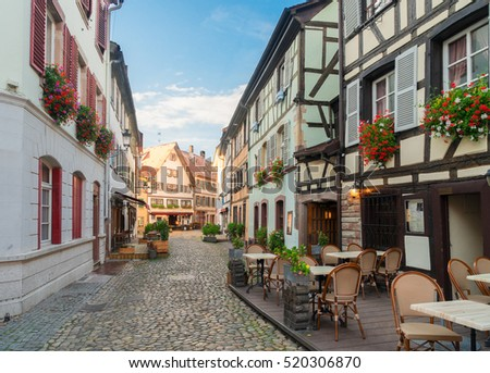 canal colmar most famous town alsace stock photo 558357499 shutterstock. Black Bedroom Furniture Sets. Home Design Ideas