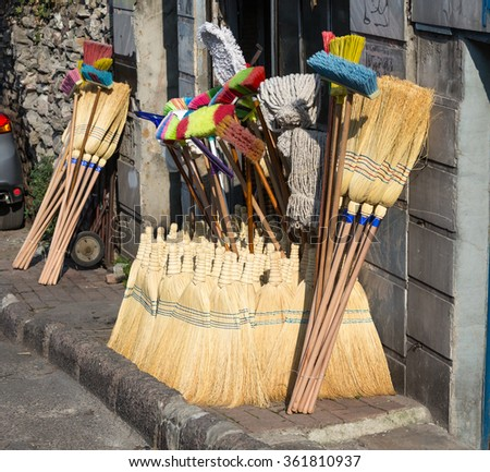 Old Fashioned Broom Stock Images Royalty Free Images