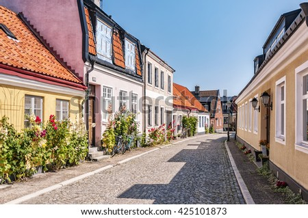 Street scene from the Swedish town of Ystad.