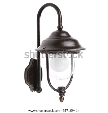 Street sconce isolated on white background