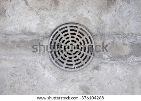 Street sewer drain - stock photo