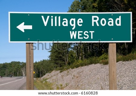 Street sign for Village Road West