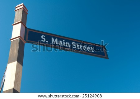 Street sign indicating the name of the road - stock photo