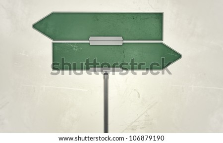 street sign isolated on white background