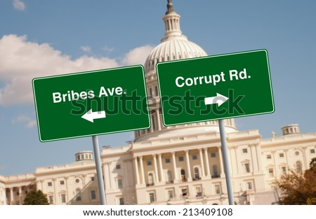 Street signs in Washington D.C. - stock photo