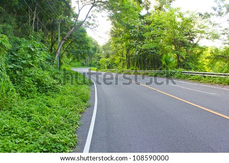 street to  Maerim,Chiangmai,Thailand - stock photo