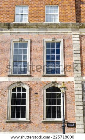 Street view, Facade in Dublin, Ireland - stock photo