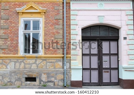 Street view in Keszthely, Hungary. Old architecture in Zala county.