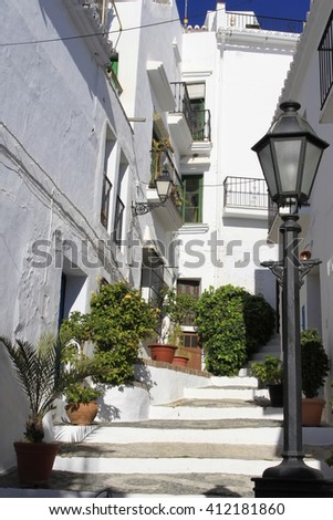 street views of Frigiliana in Malaga (Andalusia - Spain)