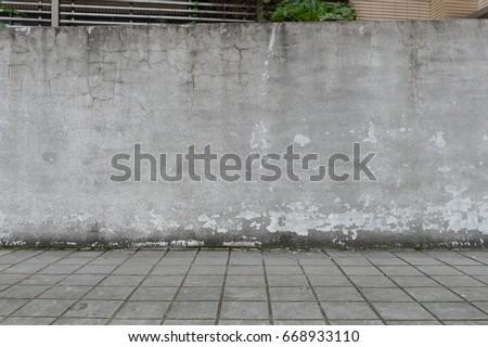 Street Wall Background Industrial Empty Grunge Urban With Warehouse Brick