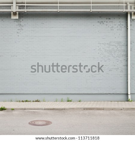 Street wall background, texture - stock photo