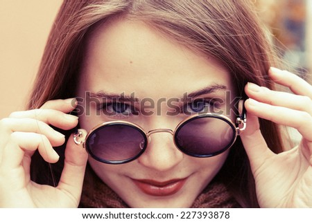 street young beautiful girl woman portrait  - stock photo