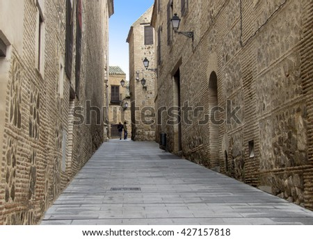 Streets from medieval city of Toledo