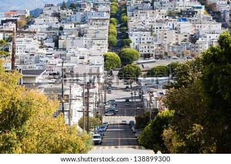 streets in San Francisco - stock photo