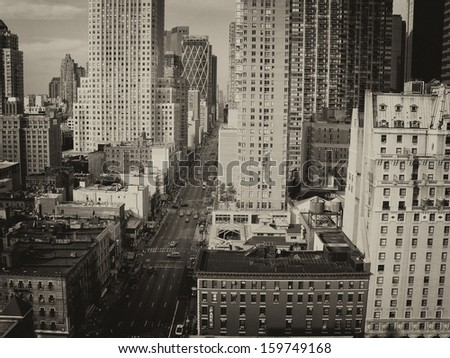 Streets of Midtown - Manhattan, New York City. - stock photo