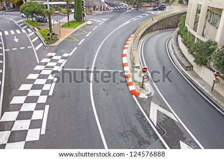 Streets of Monaco - stock photo