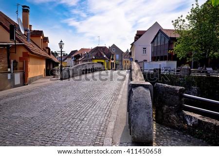 Streets of old Samobor town, Prigorje, Croatia - stock photo