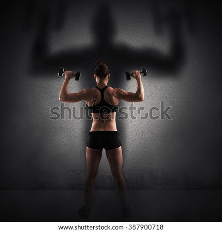Strength and power - stock photo