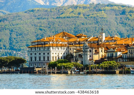 STRESA, ITALY - MAY 3, 2016: Isola Bella on the  Lago Maggiore (Big Lake), Piedmont, Italy. Lago Maggiore is the second largest lake in Italy