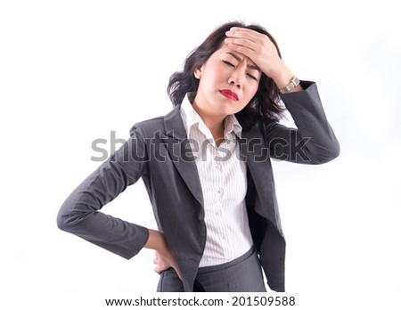 Stress. Business woman - stock photo