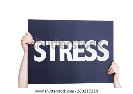 Stress card isolated on white background - stock photo