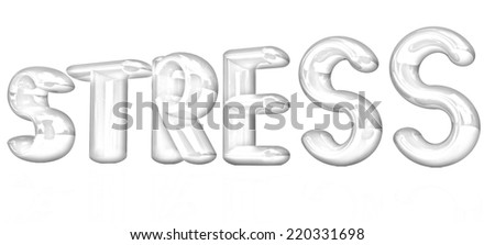 stress 3d text on a white background. Pencil drawing  - stock photo